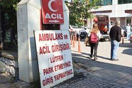 Hastane önünde park krizi