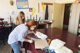 Milas HEM yıkanabilir maske üretiyor