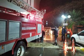 Yanan poliklinik yeniden hizmete açıldı