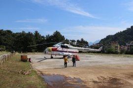 Muğla'da İlk Yangın Helikopteri Marmaris'te Göreve Başladı
