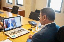 Başkanlar telekonferansla görüştü