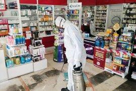 Muğla'da eczaneler dezenfekte edildi