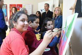 Öğrencilerden ortak resim sergisi
