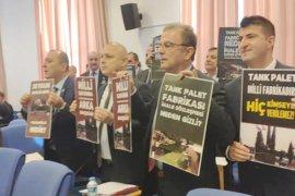 CHP'li Girgin'den Tank Palet Fabrikası protestosu
