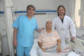 Hastanın ayağı kesilmekten kurtuldu