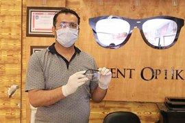 Levent Optik'ten özel korumalı gözlük desteği