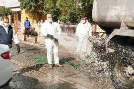 Sokaklar dezenfekte ediliyor