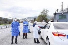 Şehir giriş ve çıkışlarında koronavirüs tedbirleri arttırıldı