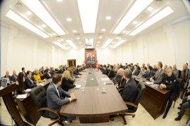 Vali Civelek Başkanlığı'nda İl İdare Şube Başkanları toplantısı yapıldı