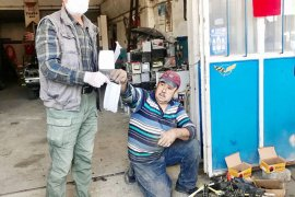 Büyükşehir'den sanayi esnafına 5 bin maske