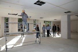 Başkan Gürün Türkan Saylan Çağdaş Yaşam Merkezi inşaatını inceledi