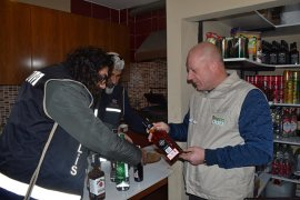 Market ve restoranlara kaçak alkol denetimi