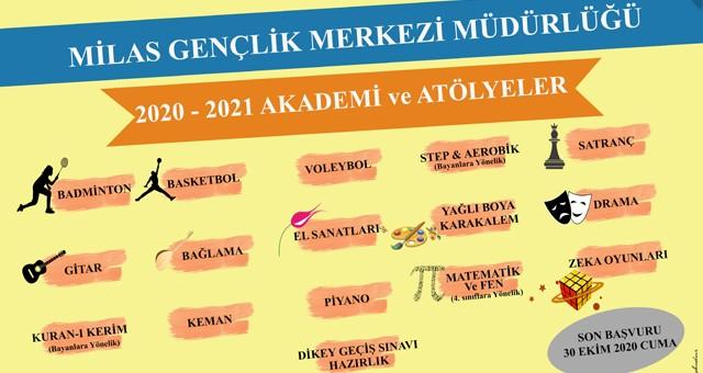 Milas Gençlik Merkezi2020 – 2021 Eğitim Öğretim Yılı başvuruları başladı