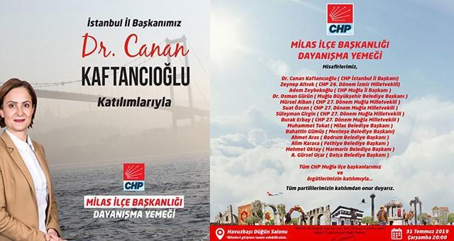 CHP'nin Dayanışma Yemeği 31 Temmuz'da…
