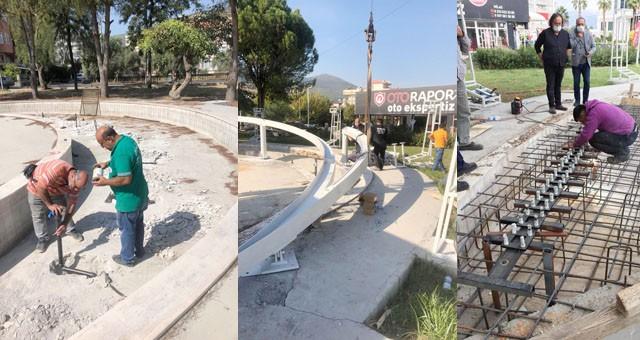 Milas Şehitlik Anıtı hızla yükseliyor