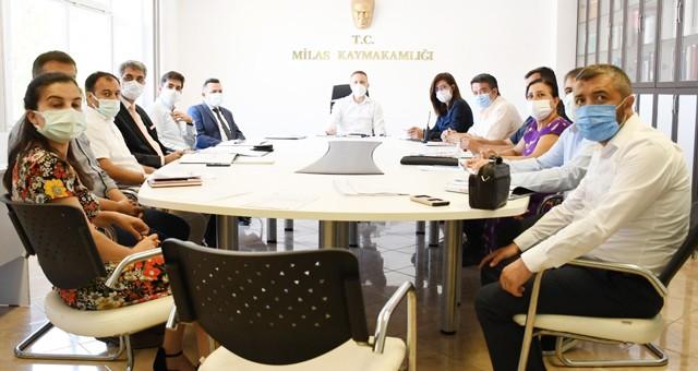 Kaymakam Böke başkanlığında kadına yönelik şiddetle ilgili mücadele toplantısı gerçekleştirildi