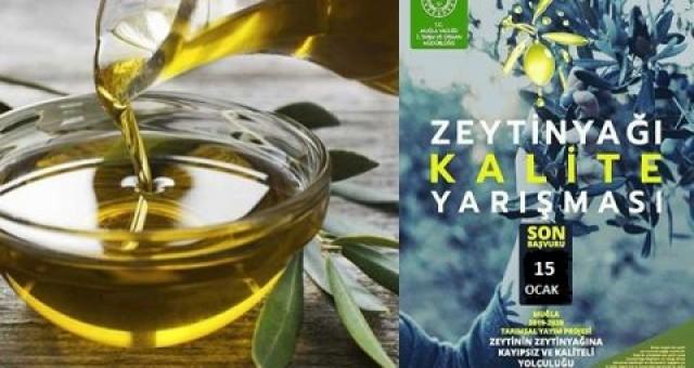 Muğla Zeytinyağı Kalite Yarışması başvuruları 15 Ocak'a ertelendi