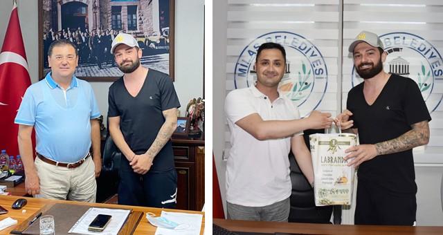 Başarılı Futbolcudan Başkan Tokat'a ziyaret