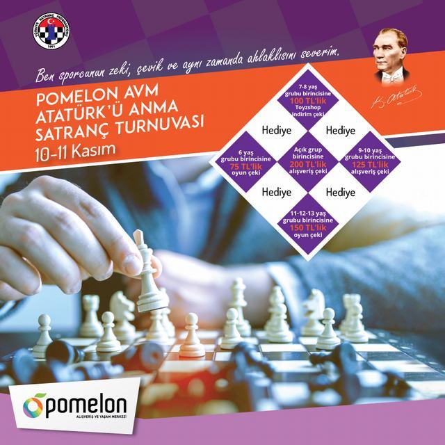 10 Kasım Atatürk'ü Anma Satranç Turnuvası
