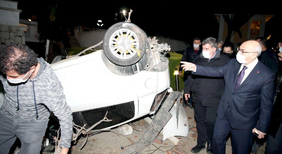 İzmir Valisi Köşger, Hasar Tespite Çıktı