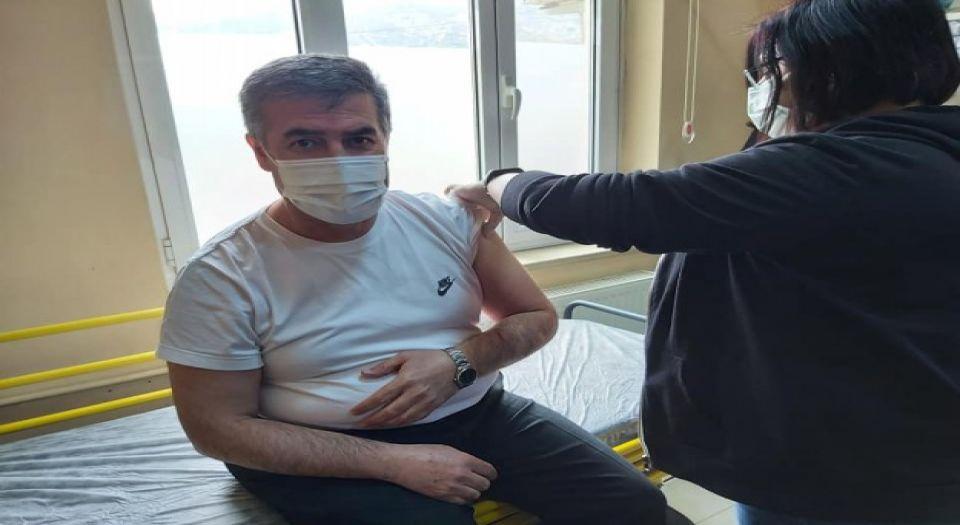 Aydın Buharkent Belediye Başkanı İlk Doz Aşıyı Oldu