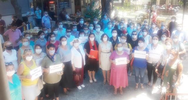 CHP'li Kadınlardan ilçemizdeki kadın cinayetine sert tepki