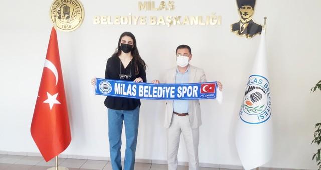 Milli Sporcu, Başkan Tokat'ı ziyaret etti