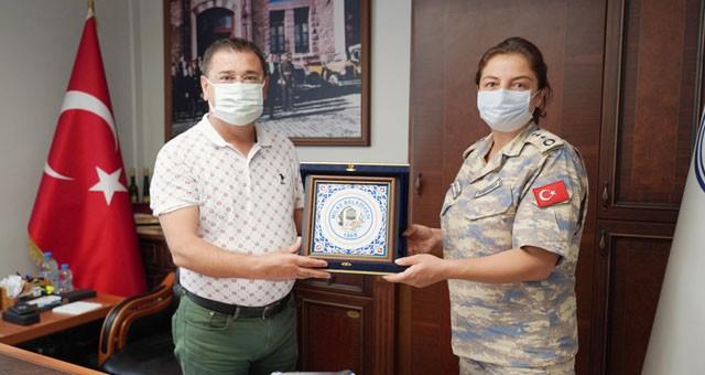 Garnizon Komutanı Albay Demiryakan'dan veda ziyareti