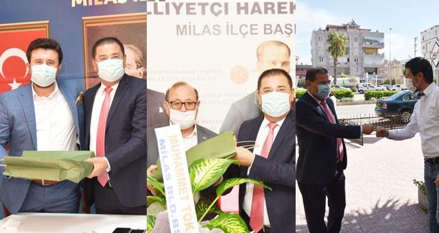 Başkan Tokat'tan siyasi partilere ziyaret