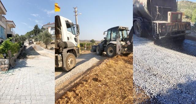 Milas Belediyesi yol yapım çalışmalarına aralıksız devam ediyor