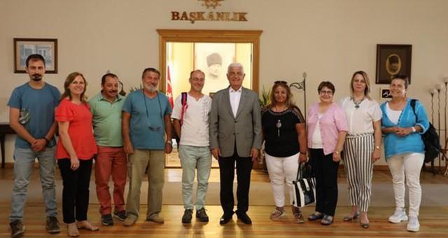 MUÇEP Başkan Osman Gürün'ü ziyaret etti...