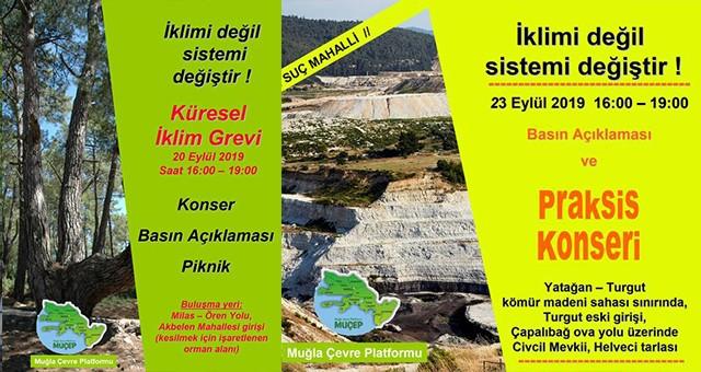 20 Eylül'de Türkiye İklim Grevi'nde!  * Milas'ta da kesilecek orman alanında piknik ve basın açıklaması yapılacak..