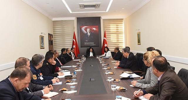 Seçim Güvenliği Toplantısı Vali Civelek Başkanlığında Yapıldı