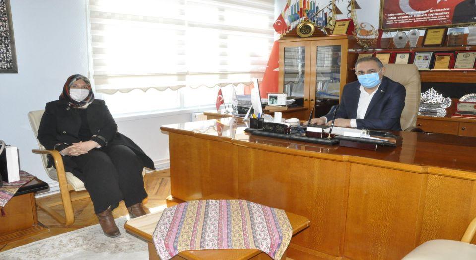 Mesure İpek'ten Başkan Nami Çiftçiye Veda Ziyareti