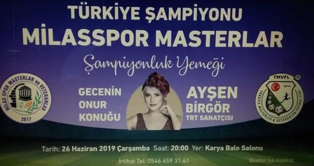 Türkiye Şampiyonu Milasspor Masterler