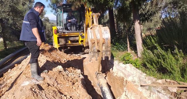 Beçin'de bin 200 metre içme suyu hattı yenilendi