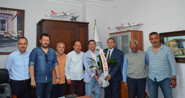 Milas Gençlikspor Kulübü Başkan Tokat'ı ziyaret ederek kutladı...