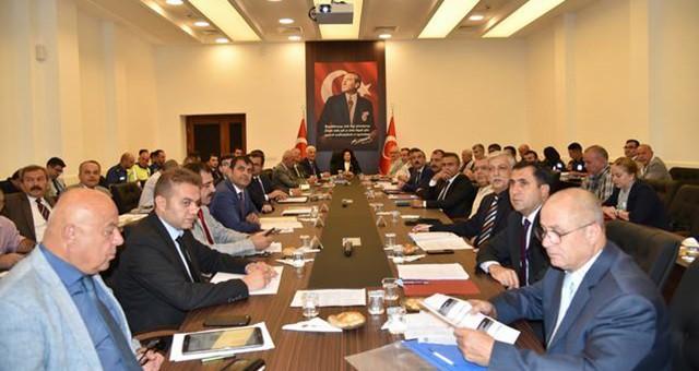 Vali Civelek Başkanlığında İl Afet ve Acil Durum Koordinasyon Kurulu Toplantısı Yapıldı
