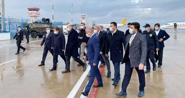İçişleri Bakanı Soylu, Milas'ta karşılandı..