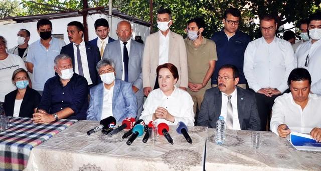 Meral Akşener yangın mağdurlarını dinledi..