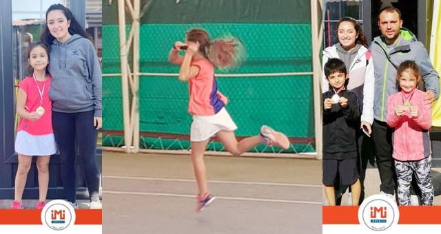 İmi Koleji'nin teniste sesi duyuluyor