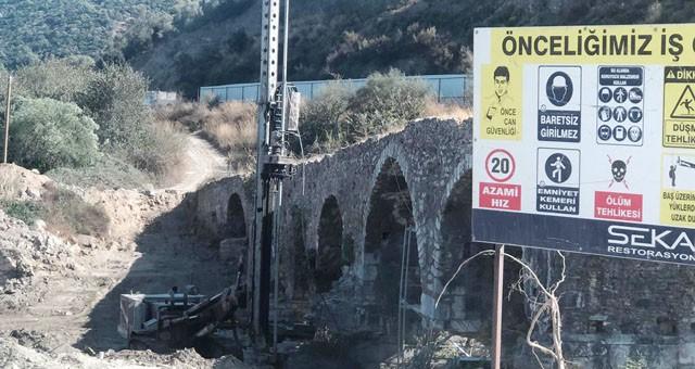 Sarıçay Köprüsü restorasyonu başladı