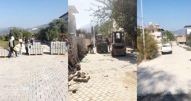 Milas Belediyesi'nin yol yapım çalışmaları devam ediyor