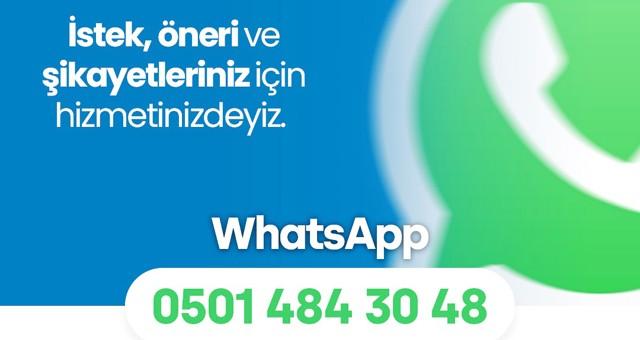 Milas Belediyesi Whatsapp iletişim hattı kurdu..