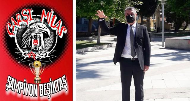 Milaslı Beşiktaşlılar Şampiyonluk Şarkıları Söylüyorlar