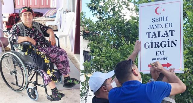 Şehit Annesi, tekerlekli sandalyeye kavuştu