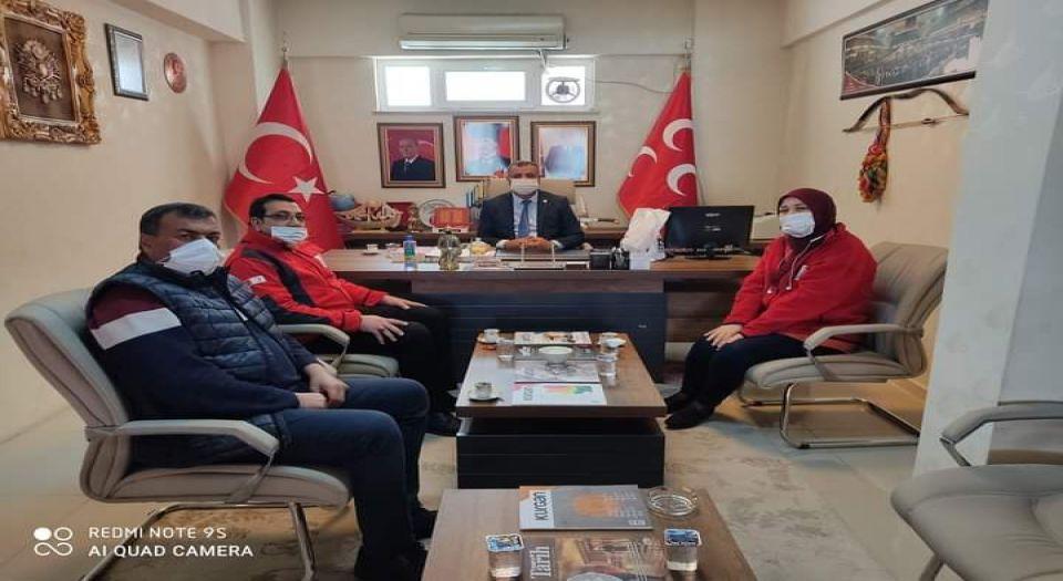Kilis Kızılay Kan Merkezi'nden Mhp'ye Ziyaret