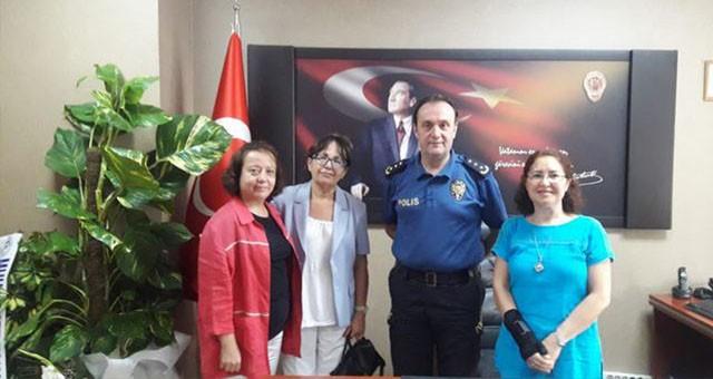 Milas'a yeni atanan Emniyet Müdürü Erman Akkaya'ya ziyaretler sürüyor..  ADD'den Emniyet Müdürü'ne nezaket ziyareti