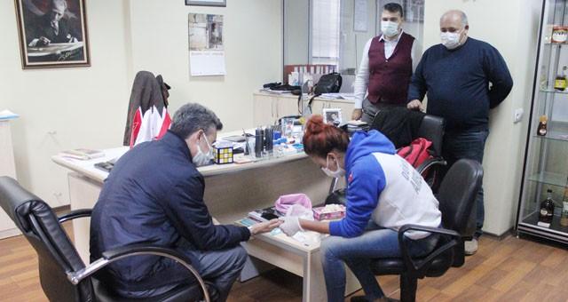 Çalışanların Covid-19 testleri yapıldı:
