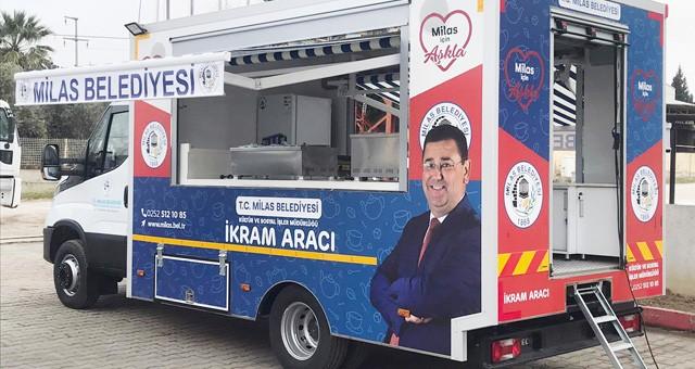 Milas Belediyesi'nin ikram aracı hizmete girdi..